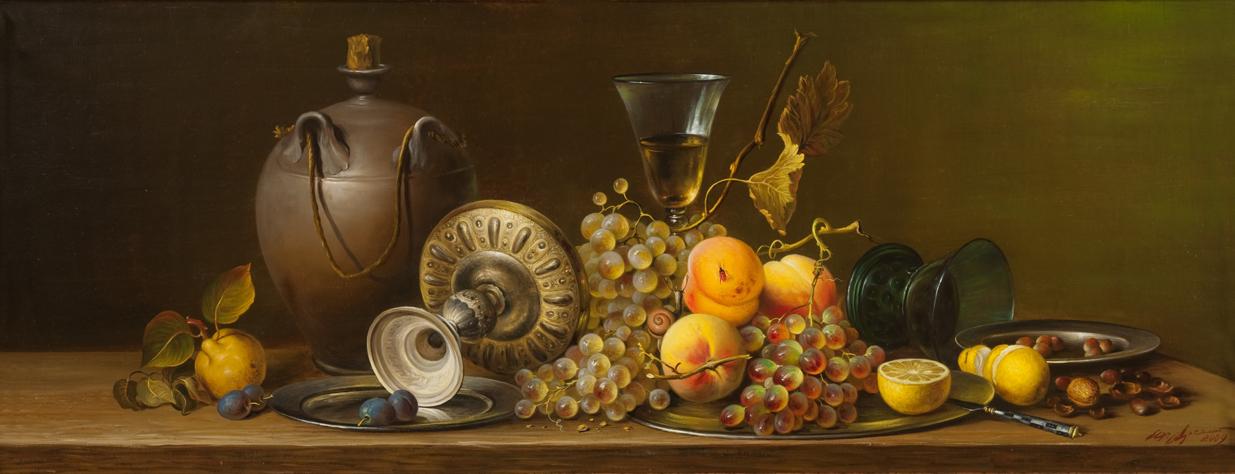 """Натюрморт с фруктами"" - х.м. (35х50) - 2011 г"