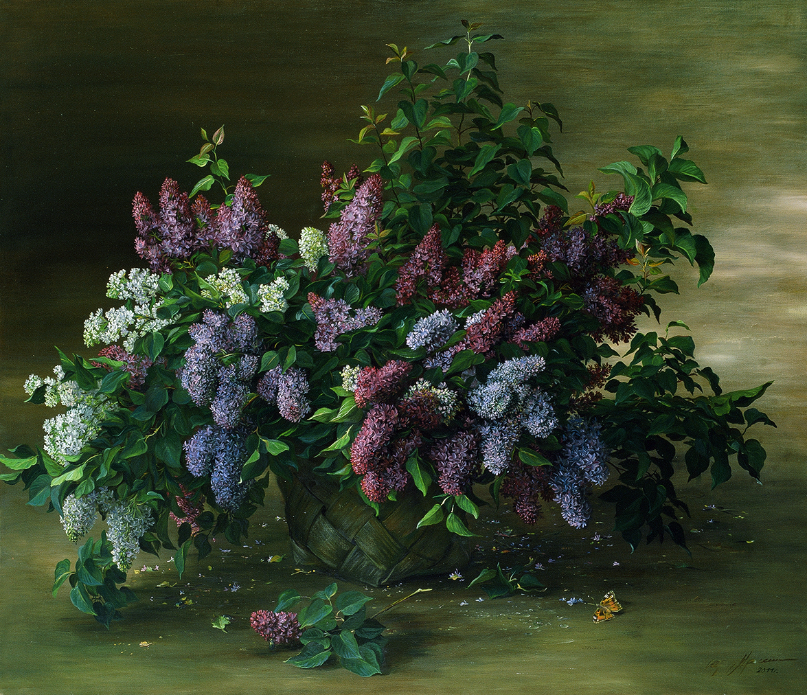 """""""Сирень"""" - х.м. (100х200) - 2005 г"""