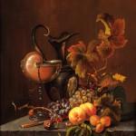 """Натюрморт с фруктами"" - х.м. (60х55) - 2005 г"