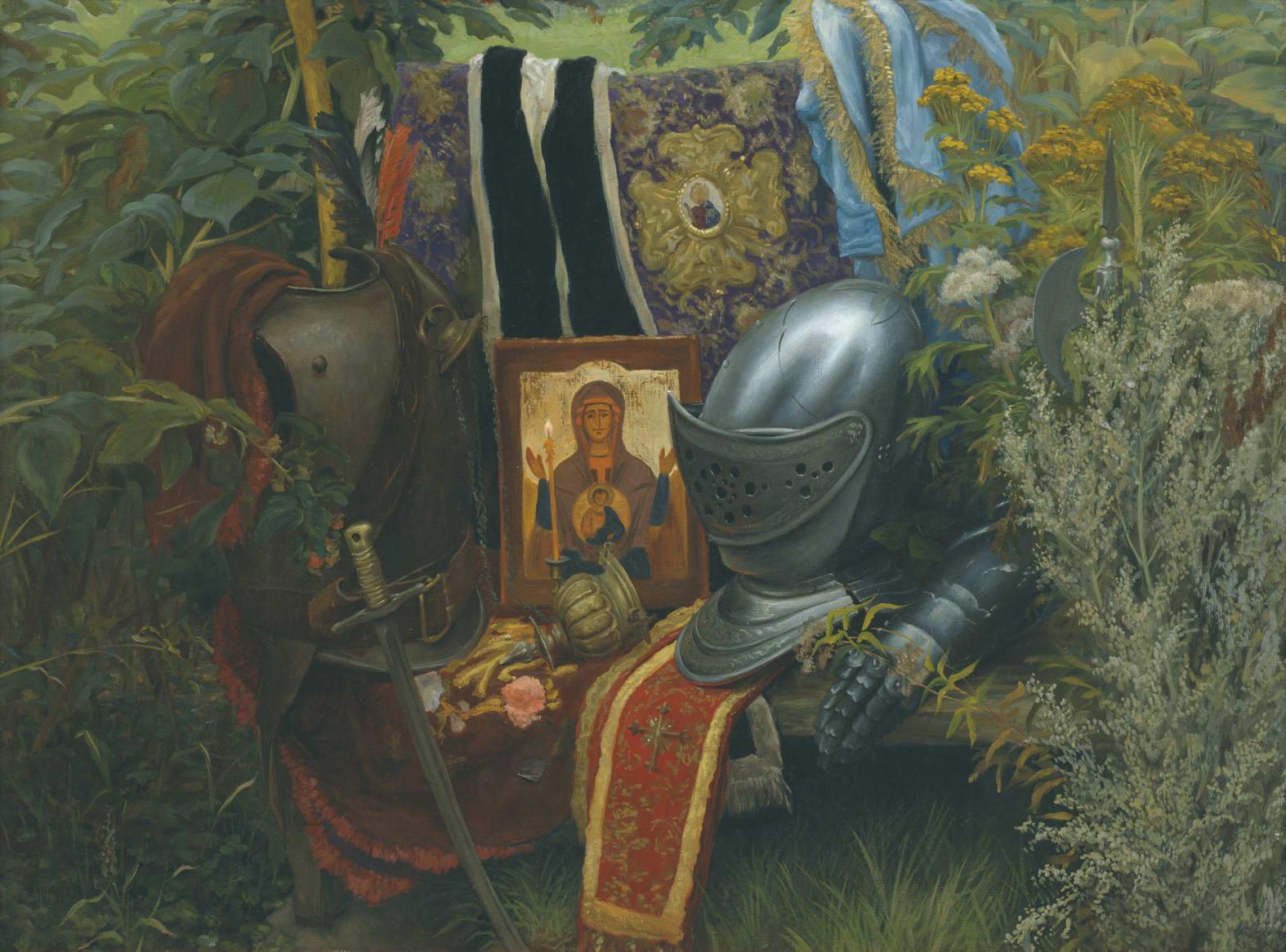 """Натюрморт со шлемом"" - х.м. (91х122) - 1985 г"