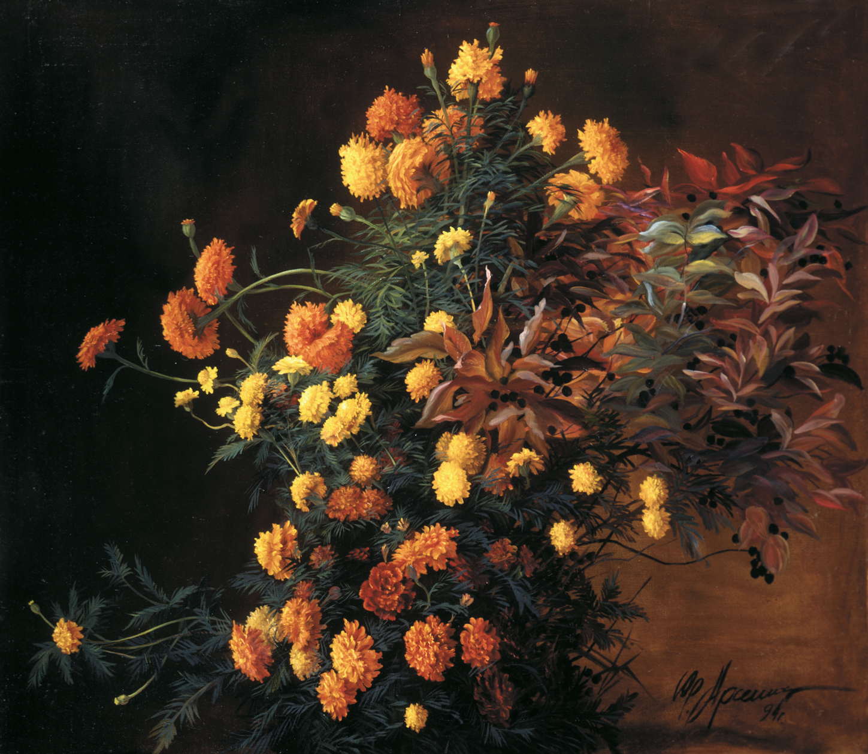 """""""Осень"""" - х.м. (100х100) - 1994 г"""