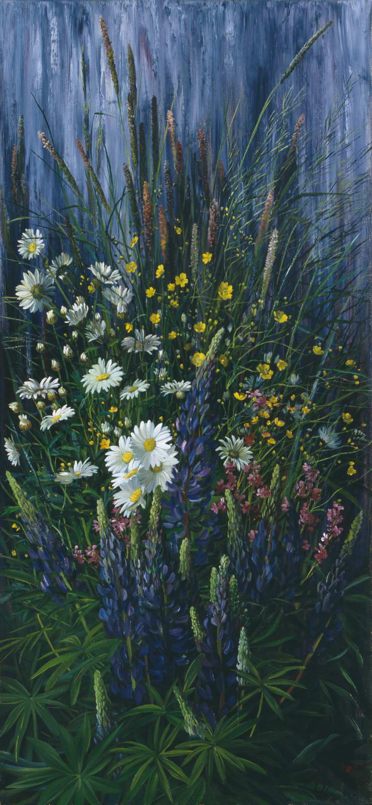 """Полевые цветы"" - х.м. (100х46) - 2003 г"