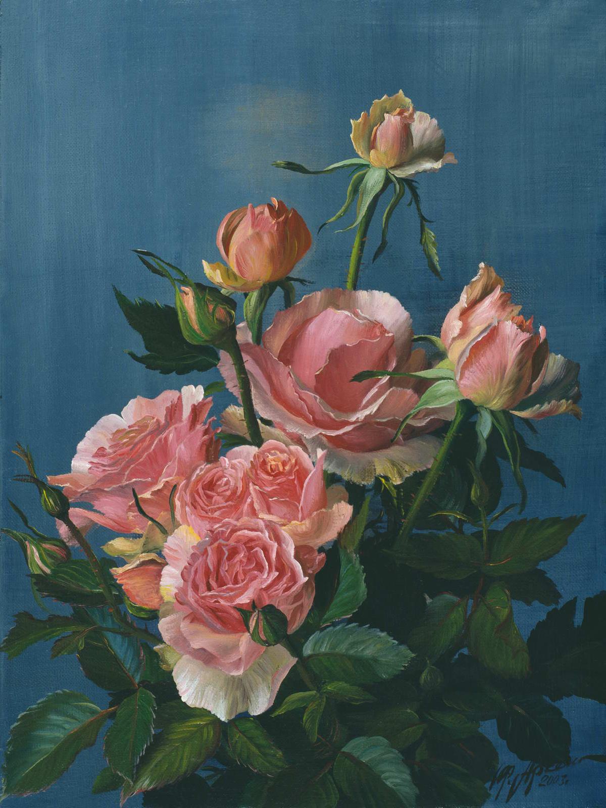 """""""Роза"""" - х.м. (40х30) - 2003 г"""