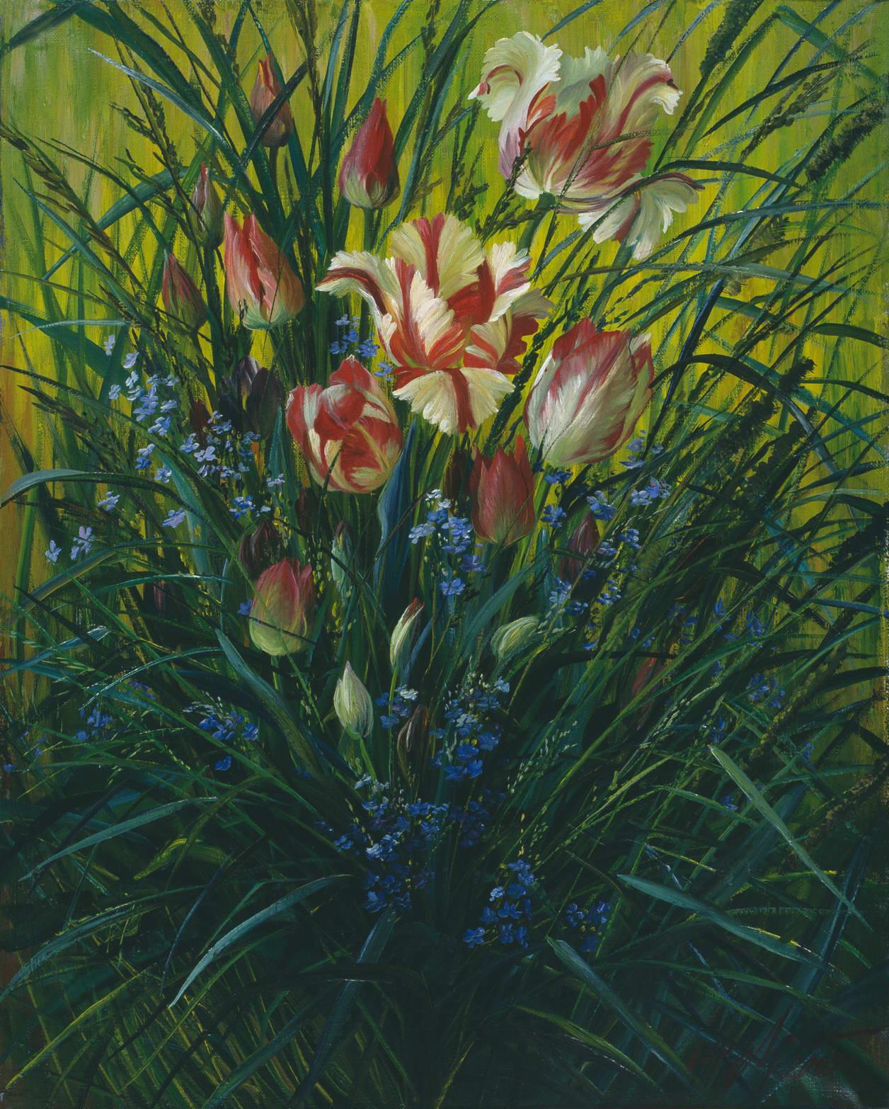 """""""Тюльпаны"""" - х.м. (50х40) - 2003 г"""