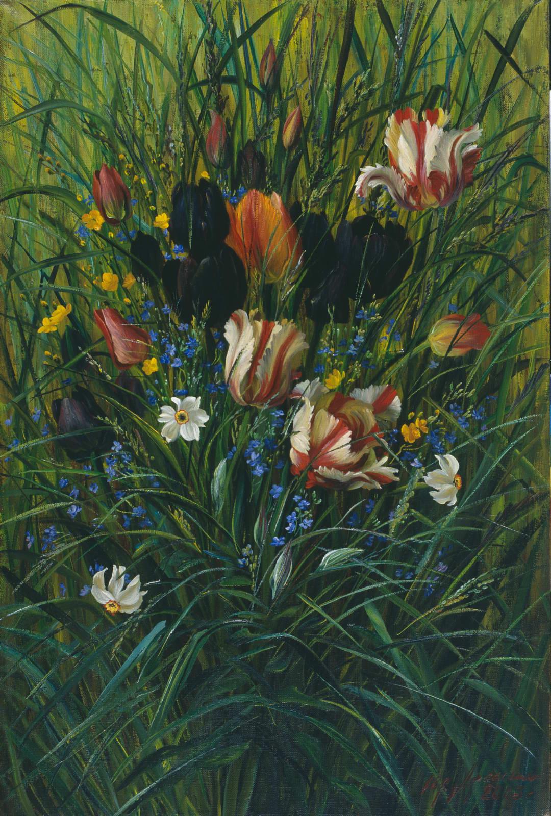 """""""Тюльпаны"""" - х.м. (60х40) - 2003 г"""