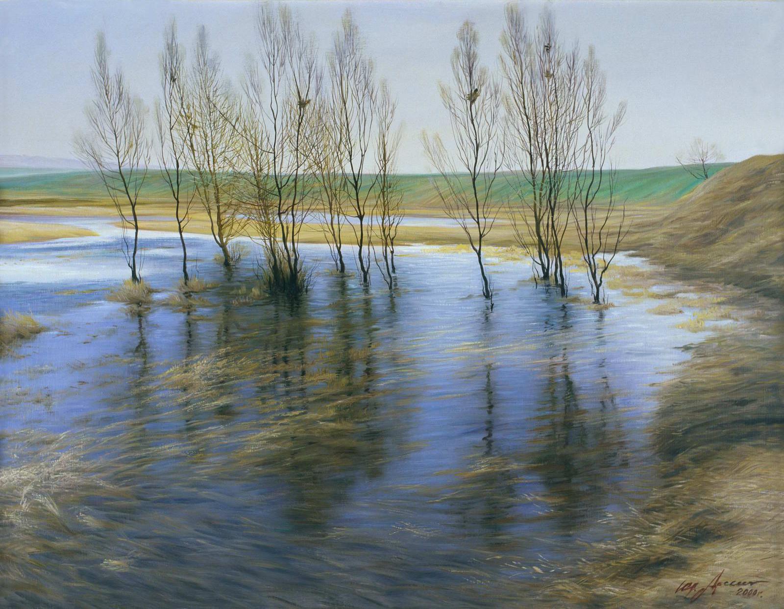 """""""Весна пришла"""" - х.м. (80х90) -  1999 г"""