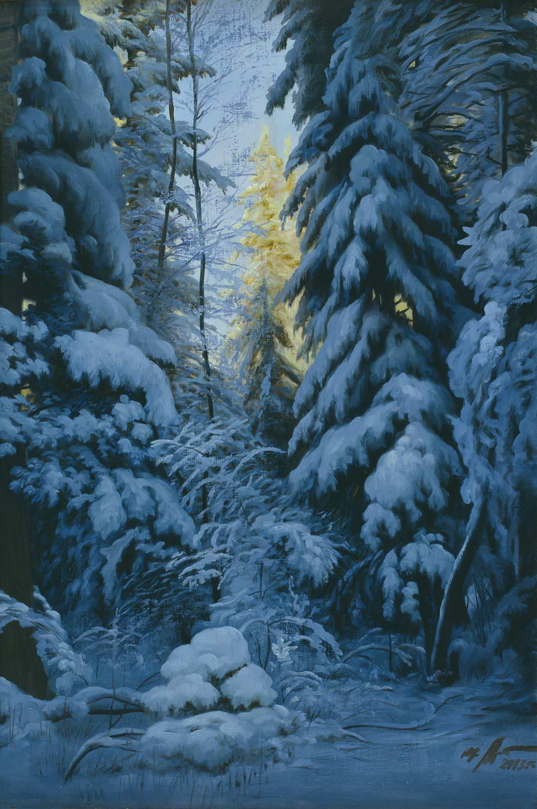 """""""Зима"""" - х.м. (60х40) - 2003 г"""