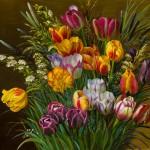"""""""Букет тюльпанов"""" - х.м. (60х80) - 2016 г"""